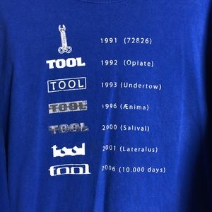 Tool graphic band T-shirt size 4xl
